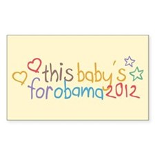 This Baby For Obama Decal