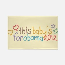 This Baby For Obama Rectangle Magnet