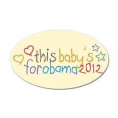 This Baby For Obama Wall Decal