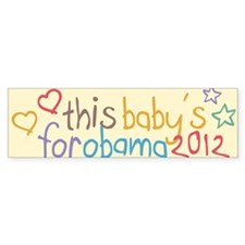 This Baby For Obama Bumper Sticker
