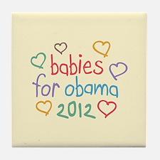 Babies For Obama Tile Coaster