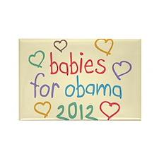 Babies For Obama Rectangle Magnet