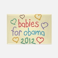 Babies For Obama Rectangle Magnet