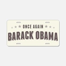 Obama Once Again Aluminum License Plate