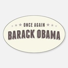 Obama Once Again Sticker (Oval)