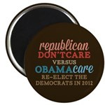 Obamacare vs Don't Care Magnet
