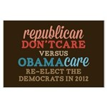 Obamacare vs Don't Care Large Poster