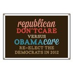Obamacare vs Don't Care Banner