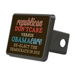 Obamacare vs Don't Care Rectangular Hitch Cover