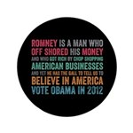 "Anti Romney Believe 3.5"" Button (100 pack)"