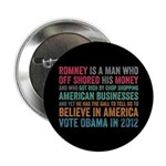 "Anti Romney Believe 2.25"" Button (100 pack)"