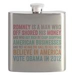 Anti Romney Believe Flask