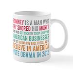 Anti Romney Believe Mug