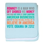 Anti Romney Believe baby blanket