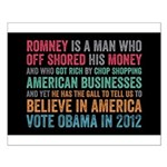 Anti Romney Believe Small Poster