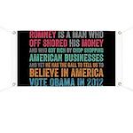 Anti Romney Believe Banner