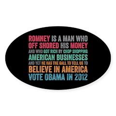 Anti Romney Believe Decal