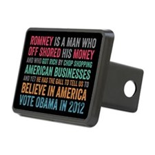Anti Romney Believe Hitch Cover