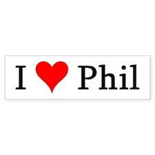 I Love Phil Bumper Bumper Sticker
