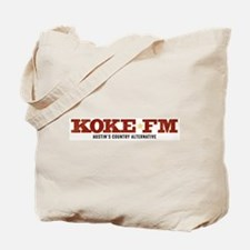 KOKE FM call letters only Tote Bag
