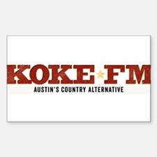 KOKE FM call letters only Sticker (Rectangle)