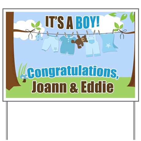 Its a Boy Congratulations Yard Sign