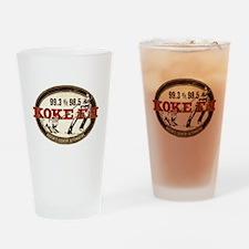 KOKE FM LOGO Drinking Glass
