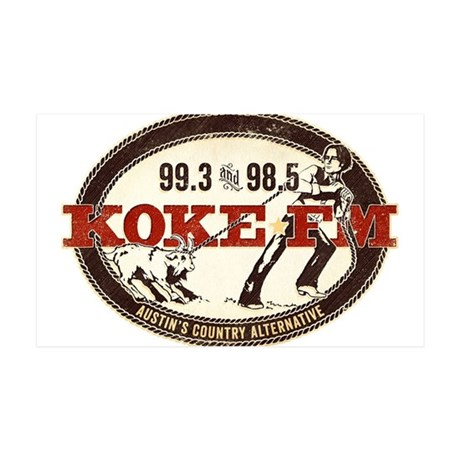 KOKE FM LOGO 35x21 Wall Decal