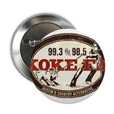 """KOKE FM LOGO 2.25"""" Button"""