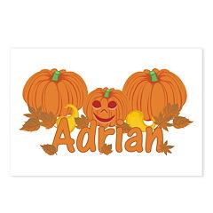 Halloween Pumpkin Adrian Postcards (Package of 8)