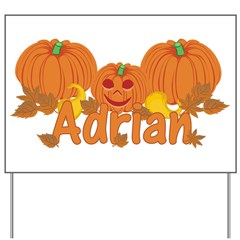 Halloween Pumpkin Adrian Yard Sign