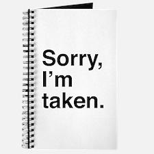 Sorry, I'm Taken. Journal