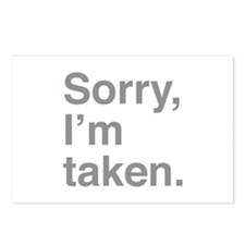 Sorry, I'm Taken. Postcards (Package of 8)