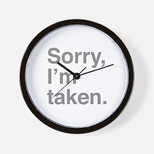 Sorry, I'm Taken. Wall Clock