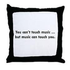 Touch Music Throw Pillow