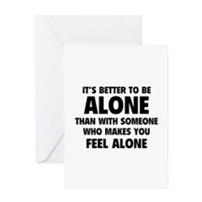 Alone Greeting Card