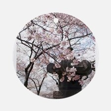 Peak Bloom Cherry Blossom around Japanese Stone la