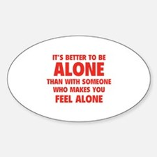 Alone Decal