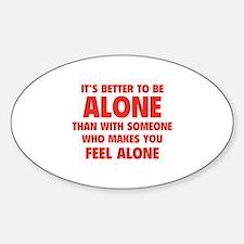Alone Sticker (Oval)