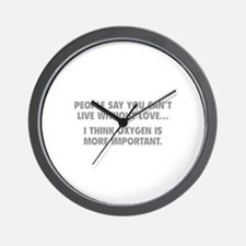 Live without love Wall Clock