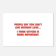 Live without love Postcards (Package of 8)