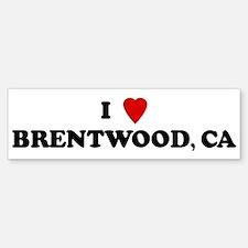 I Love BRENTWOOD Bumper Bumper Bumper Sticker