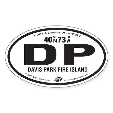 Davis Park Destination Products Oval Sticker