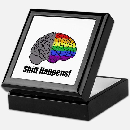 Shift Happens! Blk - Brain Keepsake Box