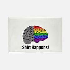 Shift Happens! Blk - Brain Rectangle Magnet