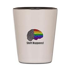 Shift Happens! Blk - Brain Shot Glass