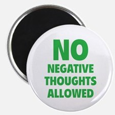 """NO Negative Thoughts Allowed 2.25"""" Magnet (100 pac"""
