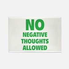 NO Negative Thoughts Allowed Rectangle Magnet