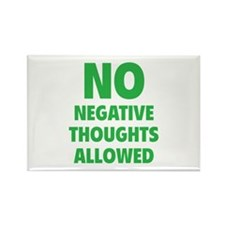 NO Negative Thoughts Allowed Rectangle Magnet (10