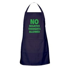 NO Negative Thoughts Allowed Apron (dark)